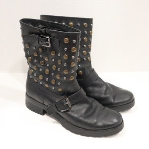 Michael Kors Boots Size 7.5 Leather Studded Boots